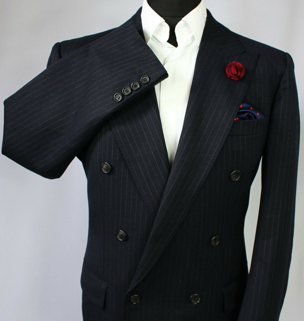 Burberry Blazer Jacket Blue Double Breasted 42R SUPERB JACKET 3259