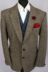 Harris Tweed Blazer Jacket Wedding 44R AMAZING COLOURS 3405