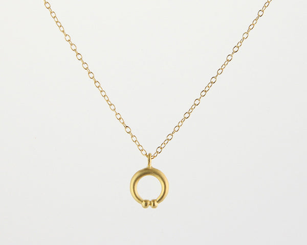 Naja Charm Necklace in Gold Vermeil