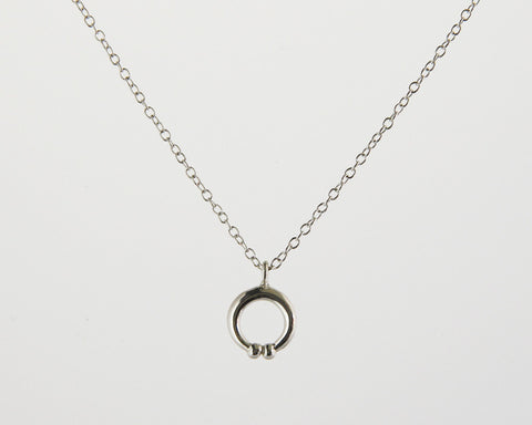Naja Charm Necklace in Sterling Silver