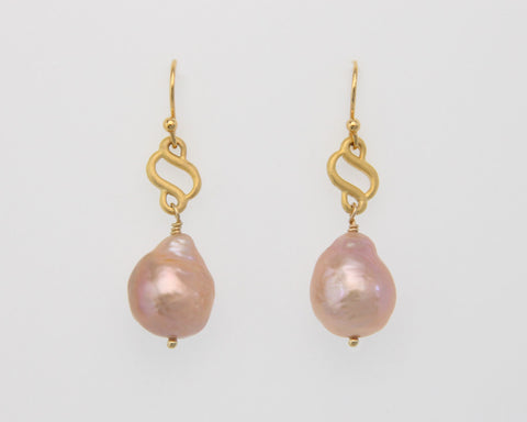 Scroll Pearl Earrings