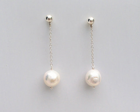 Classic Pearl Pendulum Earrings