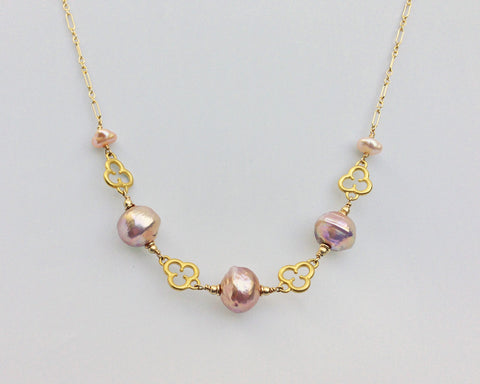 Trefoil Necklace with Pearls