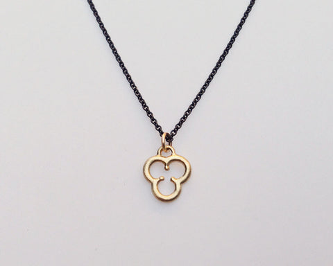 Trefoil Charm Necklace