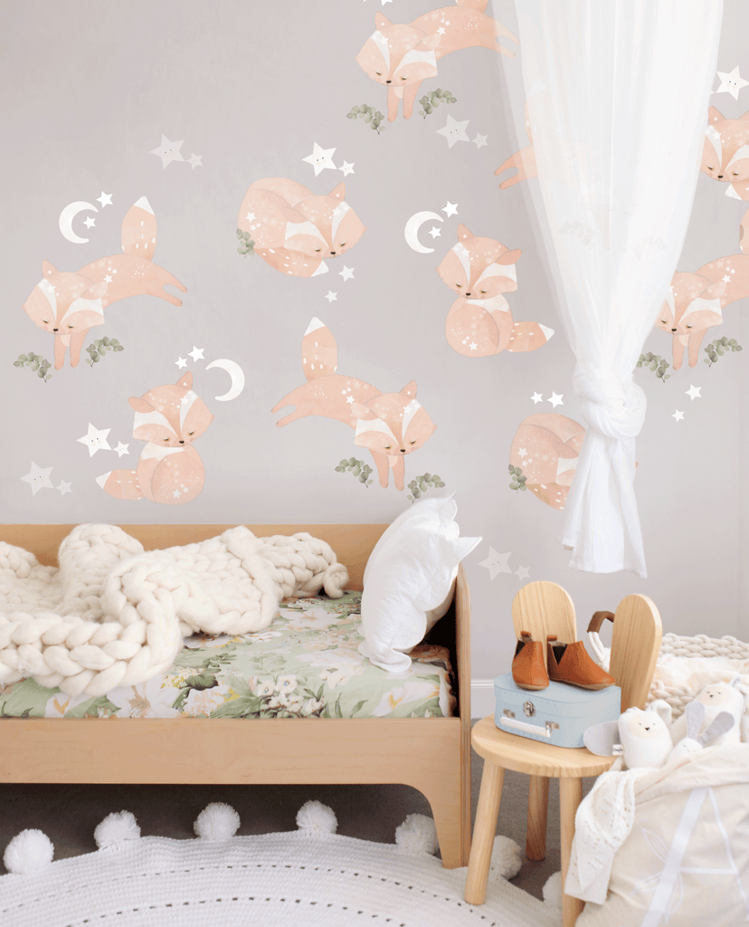 Friendly Foxes Woodland Wall Sticker - Schmooks