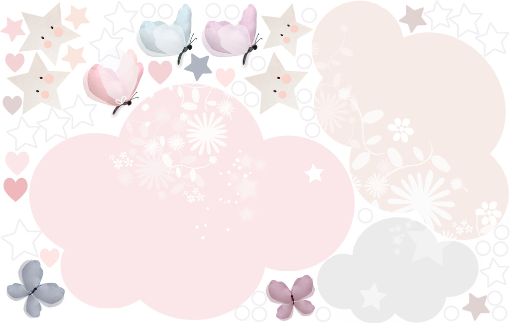 Extras Sheet - Sleepy Moon Pink Wall Sticker - Schmooks