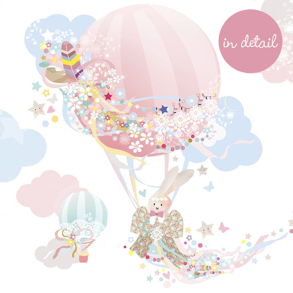 Hot Air Balloon Wall Sticker - Girl