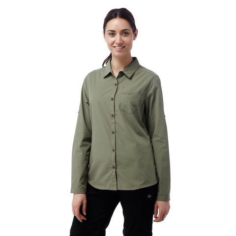 Kiwi Langarm Bluse - TravelSafe.at - 1