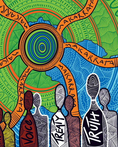 NAIDOC 2019 Aboriginal Art Design Makarrata's Journey