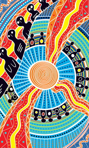 NAIDOC 2019 Aboriginal Art Design Two Parties