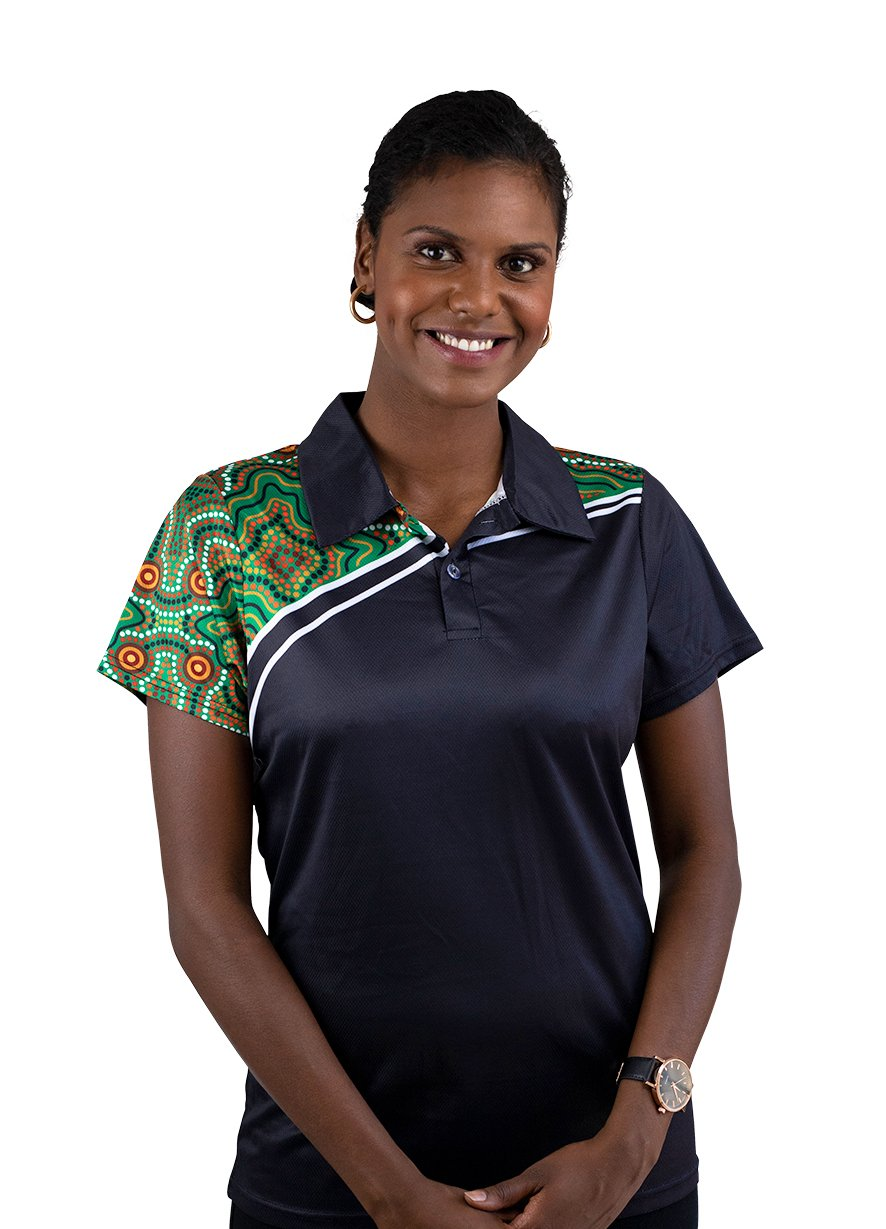 Womens Corporate Polo 26 - BW Tribal