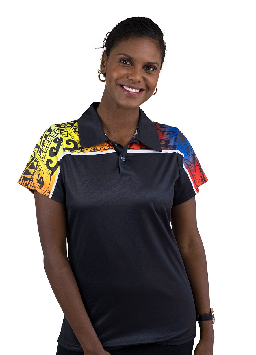 Womens Corporate Polo 9 - BW Tribal