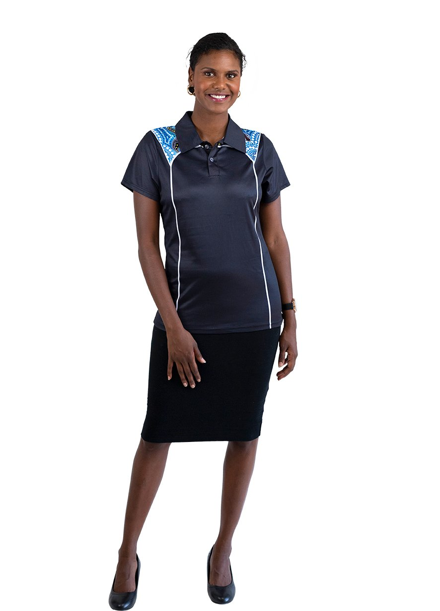 Womens Corporate Polo 1 - BW Tribal