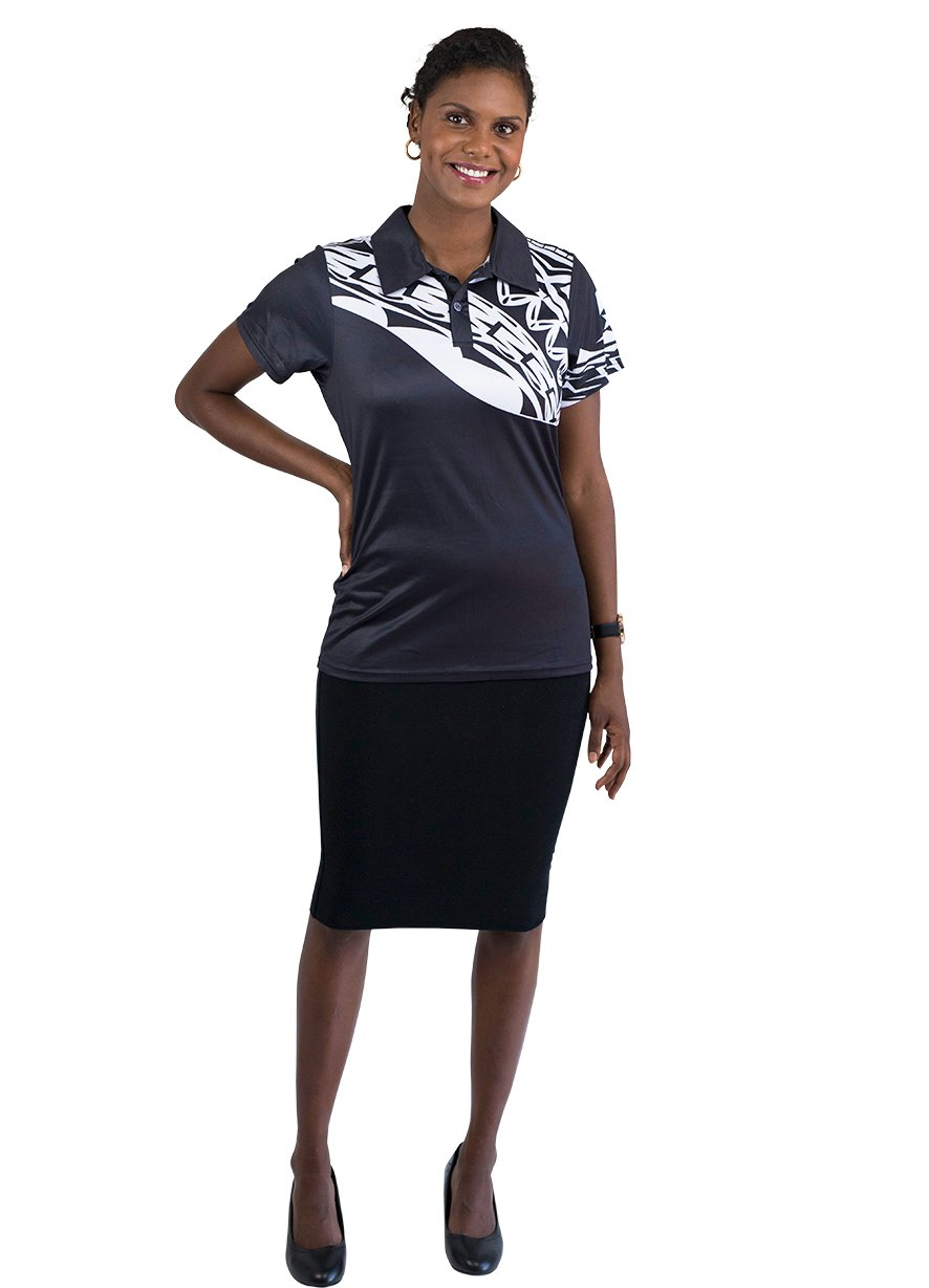 Womens Corporate Polo 15 - BW Tribal