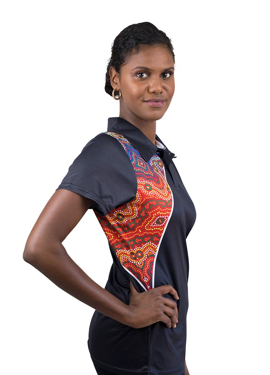 Womens Corporate Polo 13 - BW Tribal