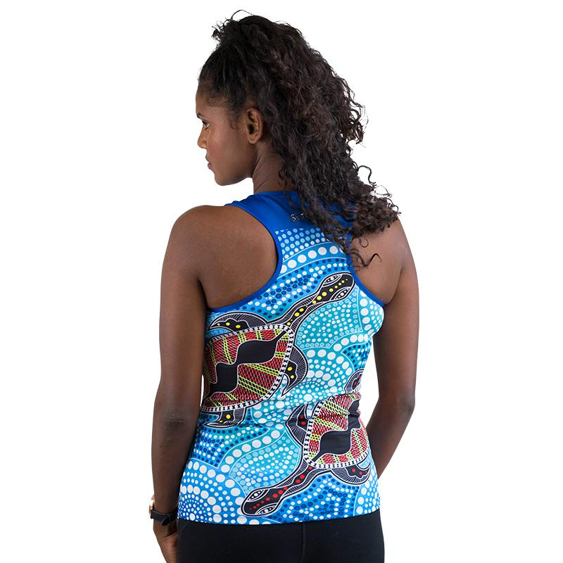 Yakans Womens Cross Back Singlet - BW Tribal