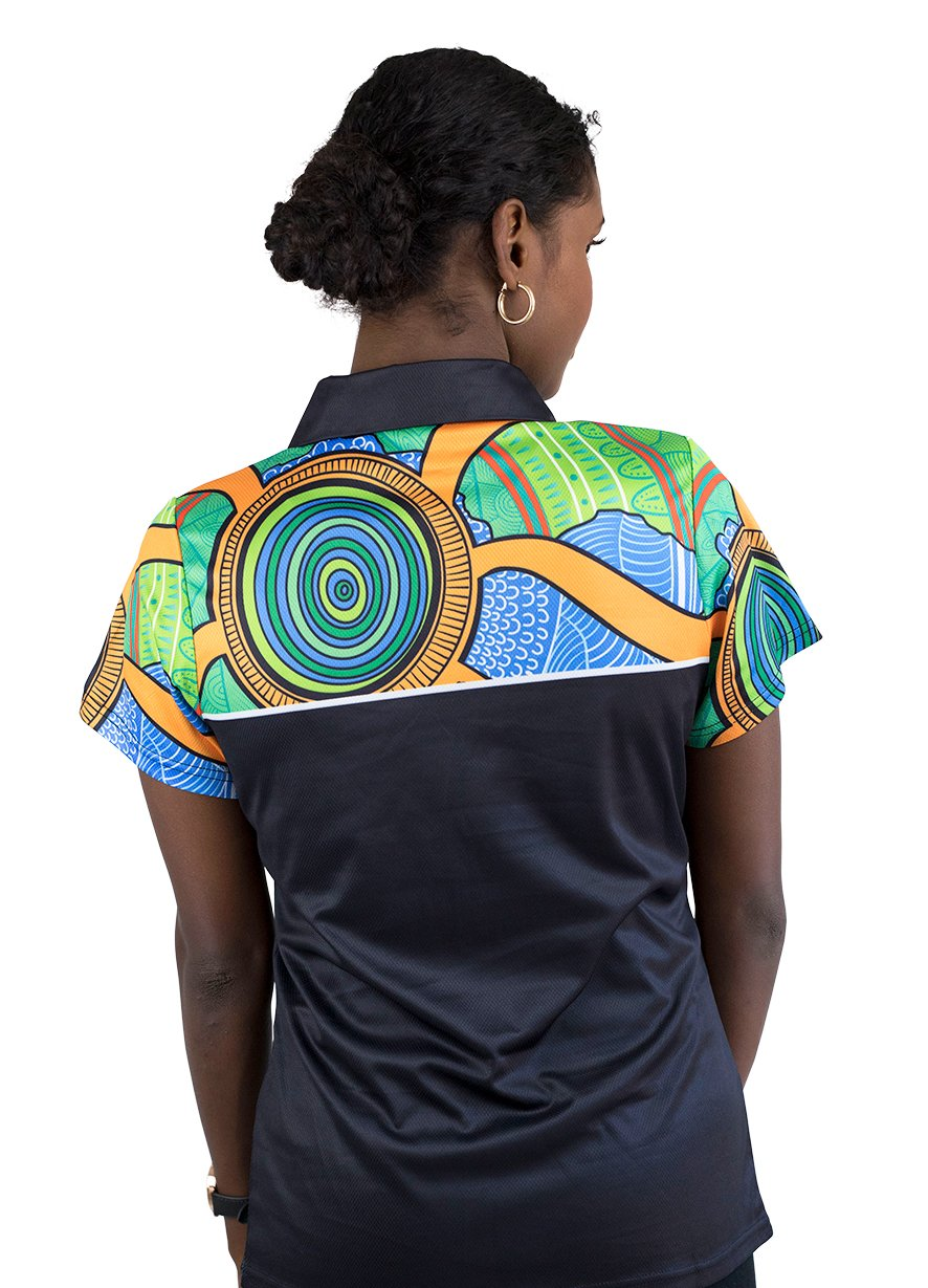 Womens Corporate Polo 5 - BW Tribal