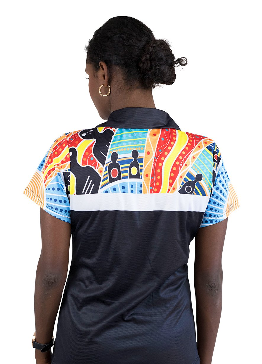 Womens Corporate Polo 7 - BW Tribal