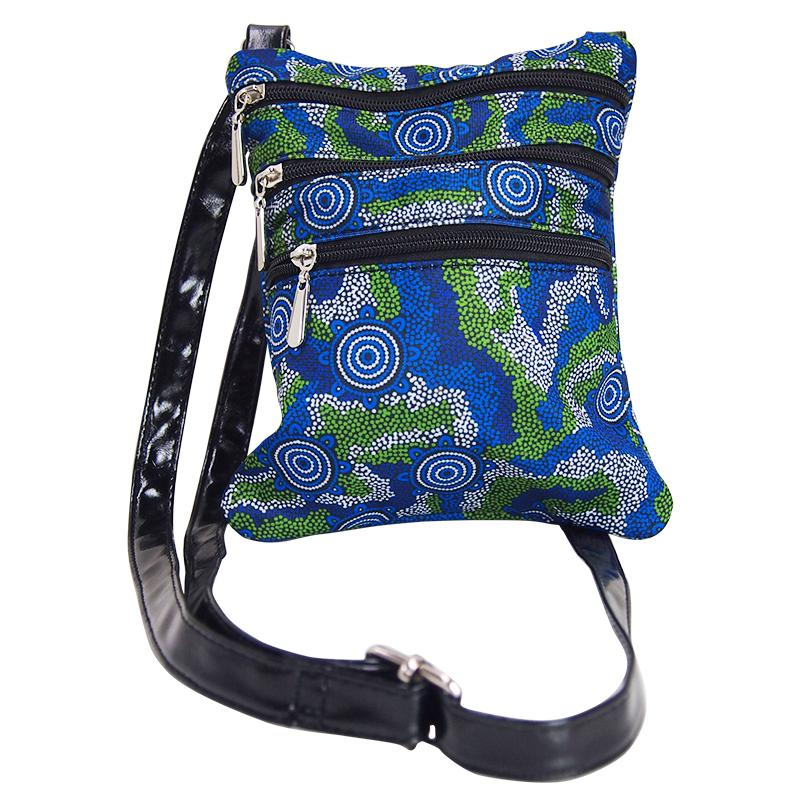 Sacred Country Blue Shoulder Bag - BW Tribal