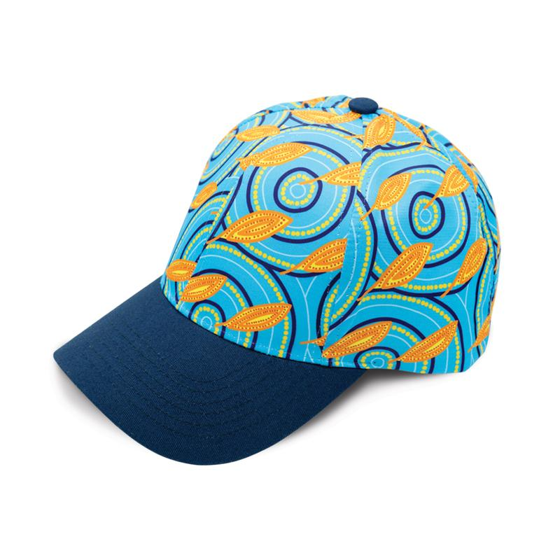 Medicine Leaves Aboriginal Cap BW Tribal Signature Range by Karla McGrady