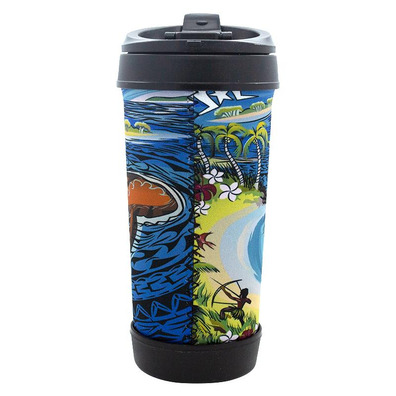 Story of Gelam Travel Mug - BW Tribal