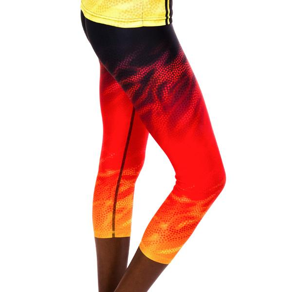 Fire Spirit Womens 3/4 Leggings - BW Tribal