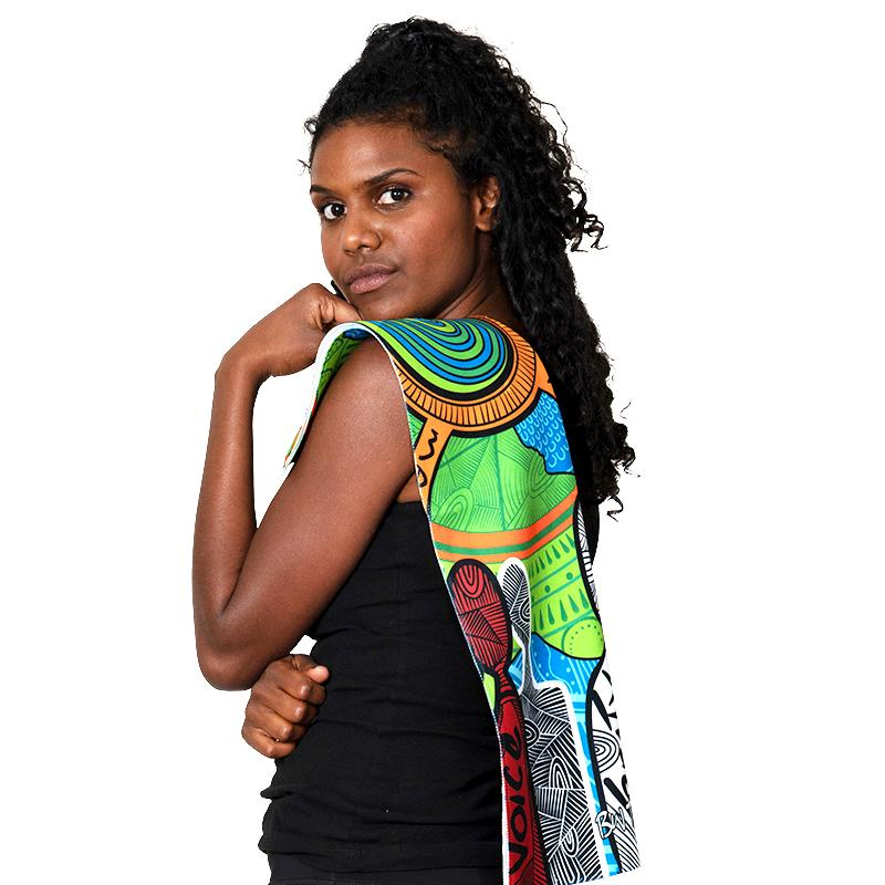 Makarrata's Journey Gym Towel - BW Tribal