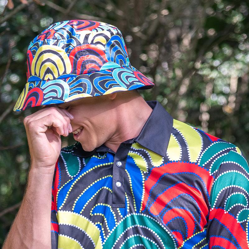 Mound Springs Bucket Hat - BW Tribal