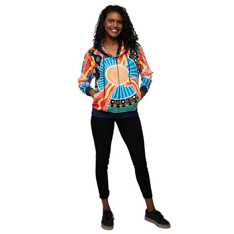 Two Parties Womens Hoodie - BW Tribal