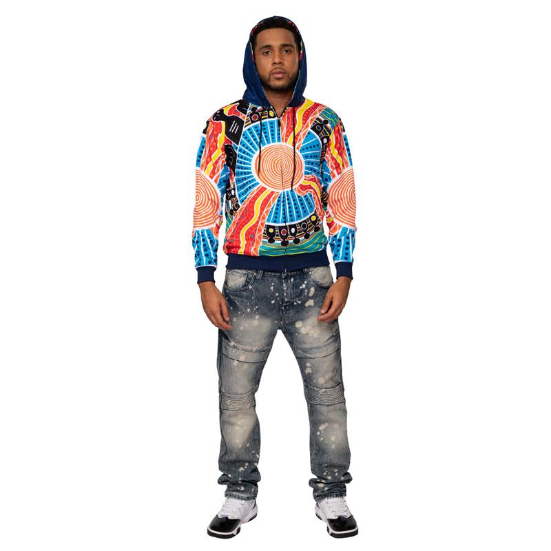 Two Parties Mens Hoodie - BW Tribal