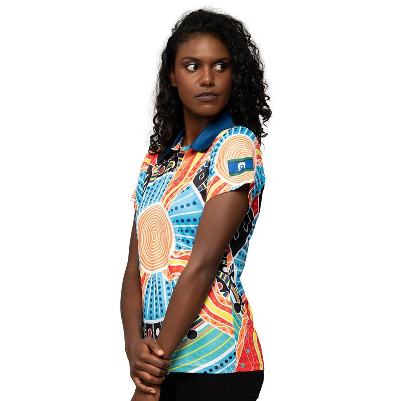 Two Parties Womens Polo - BW Tribal