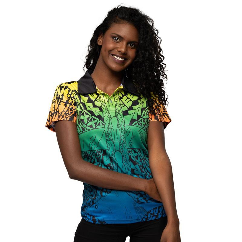 Voice Truth & Treaty Womens Polo - BW Tribal