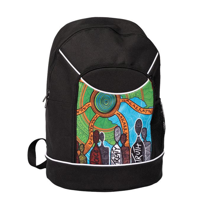 Backpack Bag Aboriginal Art NAIDOC Week 2019 Makarrata's Journey by BW Tribal