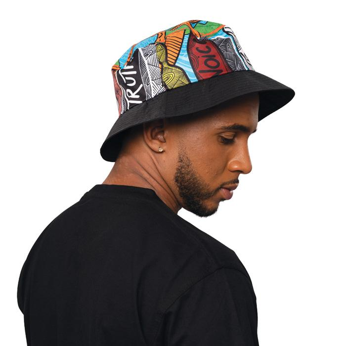Makarrata's Journey Bucket Hat - BW Tribal