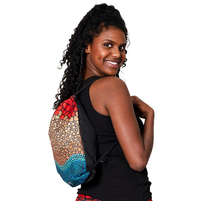 Oceans Edge Drawstrings Bag - BW Tribal