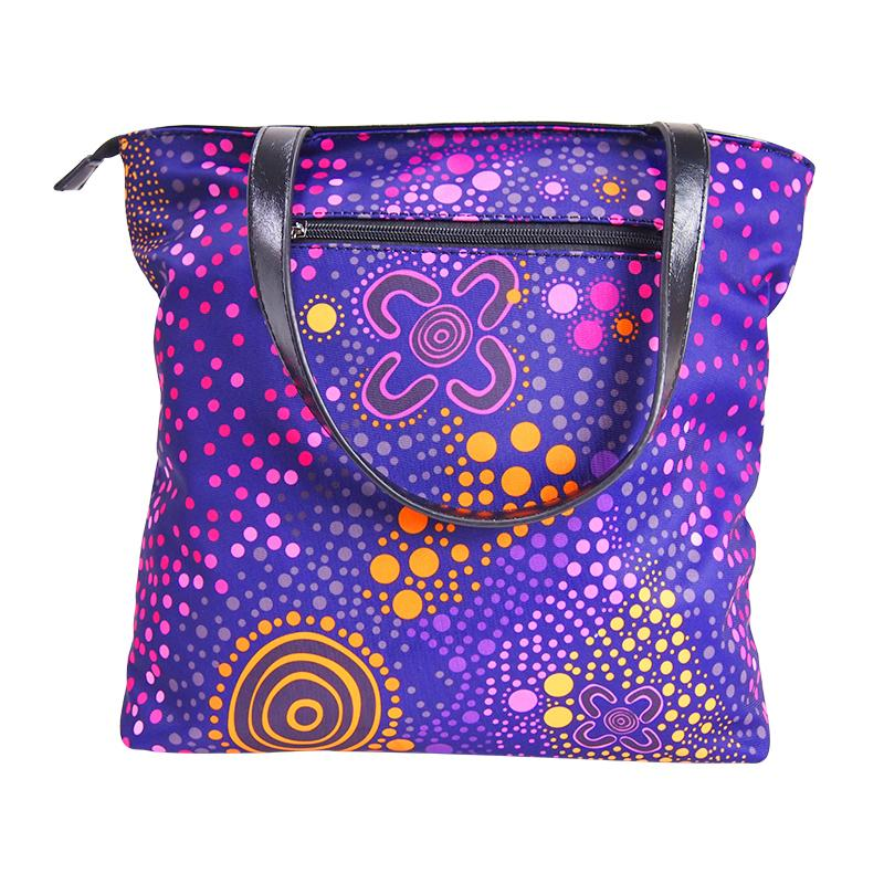 Purple Desert Flower Handbag - BW Tribal
