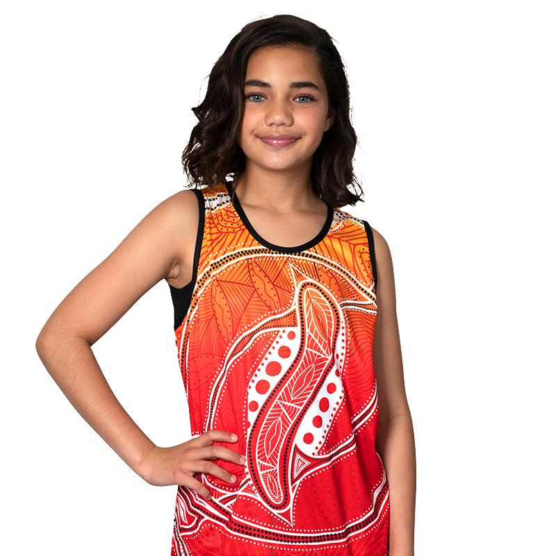 Red Seashells Kids Singlet