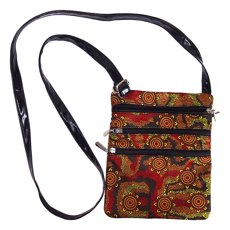 Sacred Country Red Shoulder Bag - BW Tribal