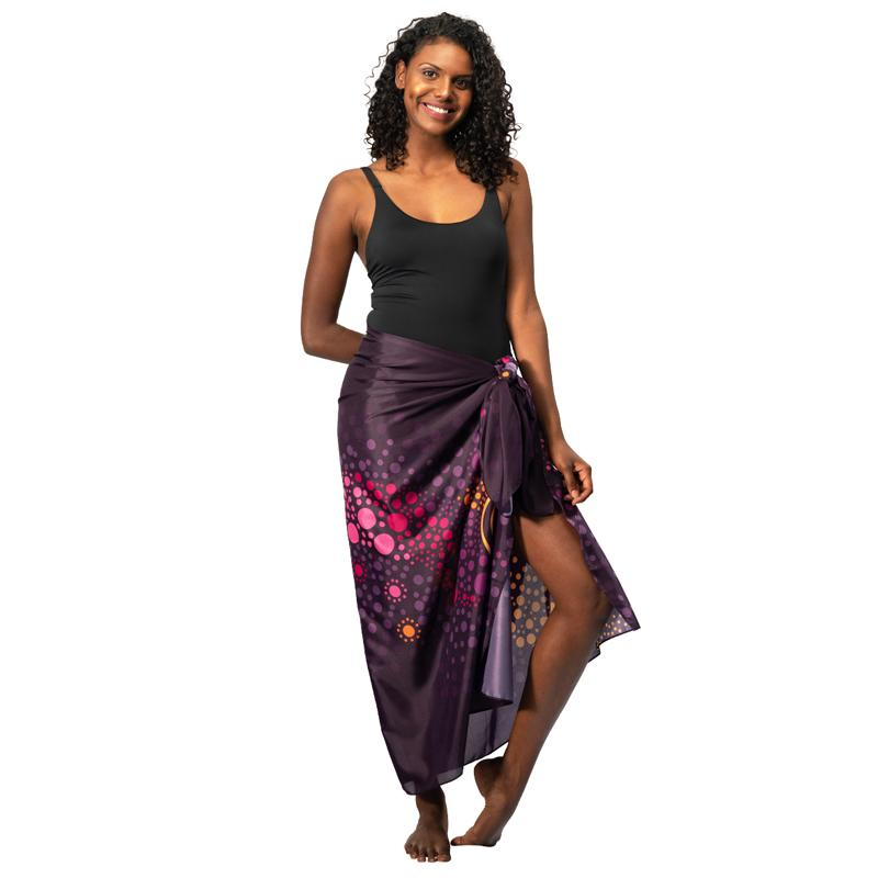 Purple Desert Flower Sarong - BW Tribal