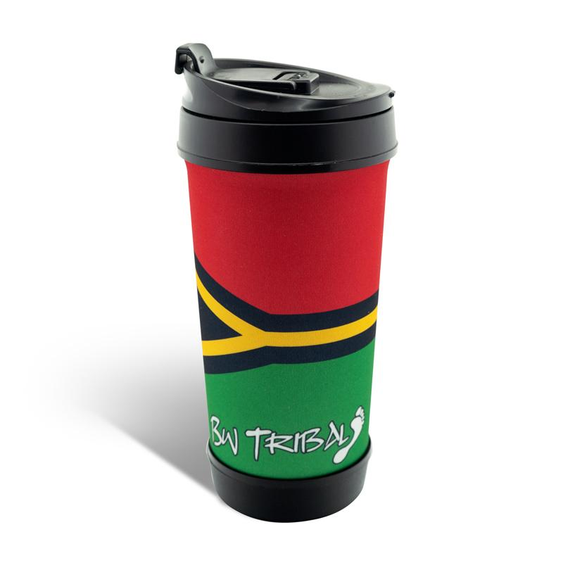 South Sea Island Travel Mug - BW Tribal
