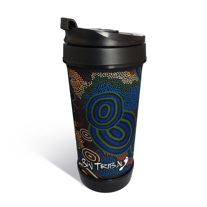 Coffee Travel Mug Australian Indigenous Aboriginal Colours Of Our Land