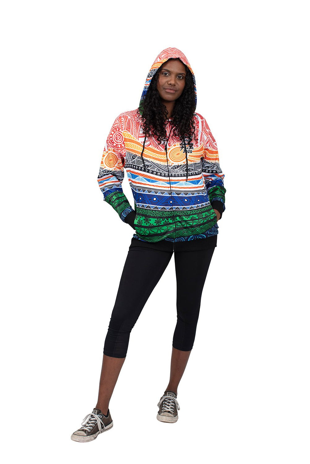 Spiritual Country Women's Hoodies - NAIDOC 2020 - BW Tribal