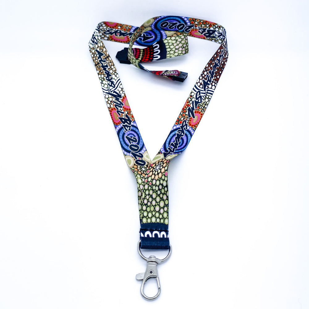 Yaliwunga Nguwa (Always Here) Sublimated Lanyards - BW Tribal