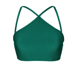 Soutien Duna Green Cropped Neck