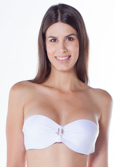 Top Franzido Metal Branco