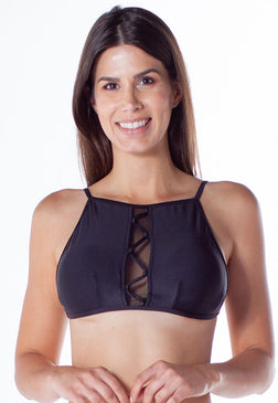 Top Hot Cropped Preto