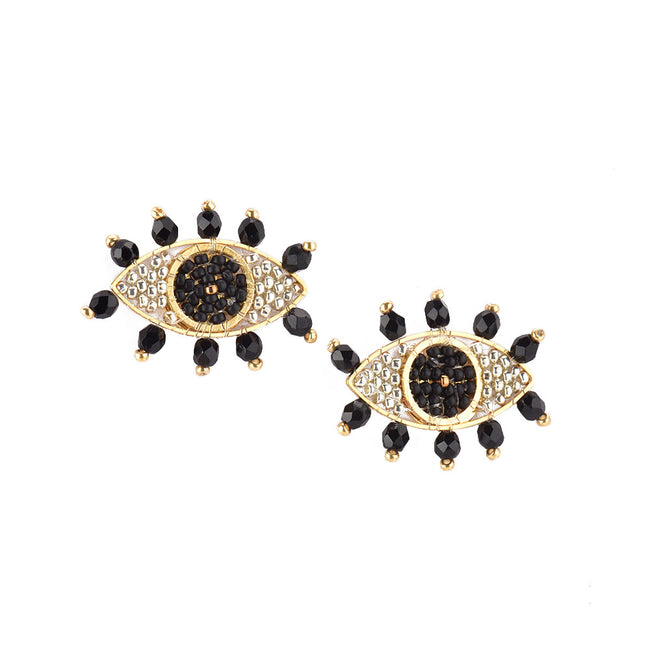 Evil Eye Earring-gp-s-8439