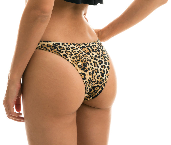Bottom Leopardo Black Babado