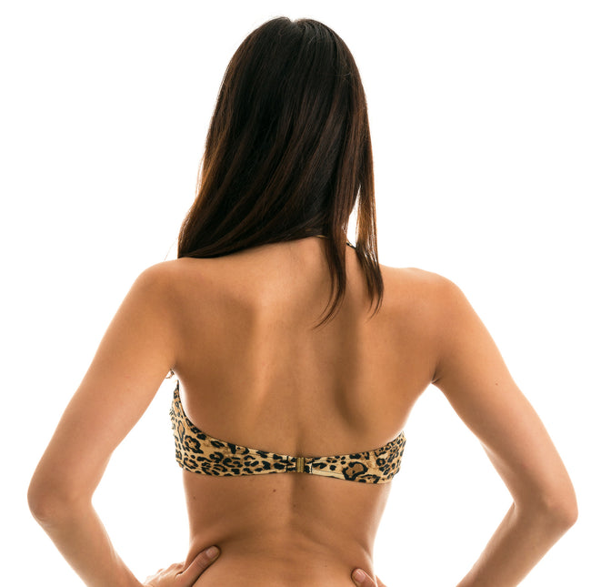 Top Leopardo Bandeau