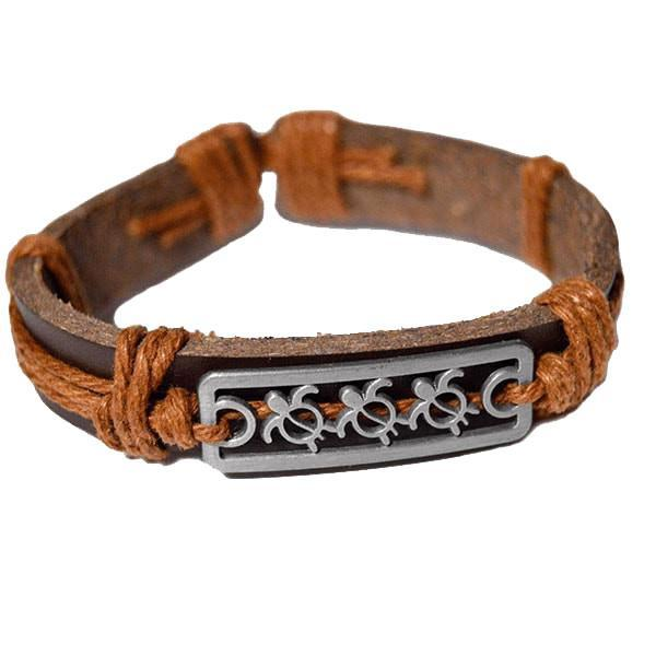 Bracelet Light Brown Turtle Love Vegan Leather